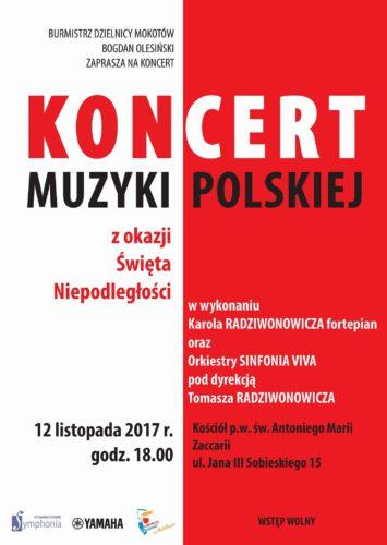 Koncert muzyki polskiej - plakat