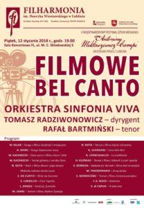 Filmowe BEL CANTO - plakat